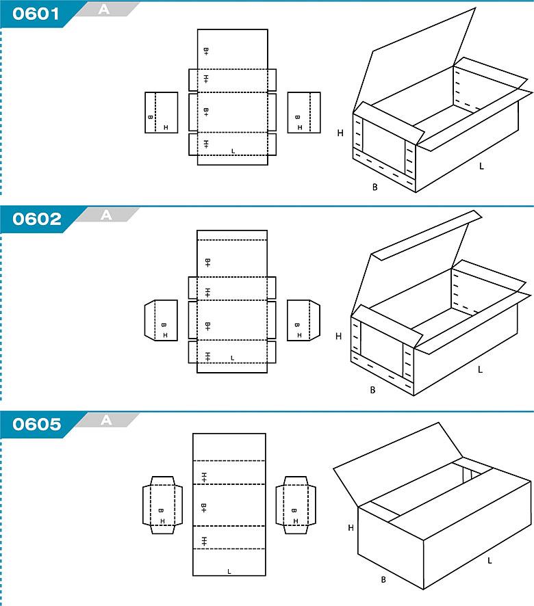FEFCO 0601 - pudełka trwale łączone