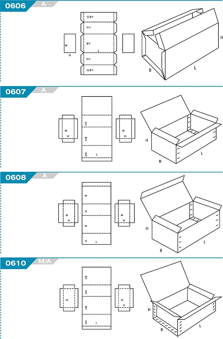 FEFCO 0606 - pudełka trwale łączone