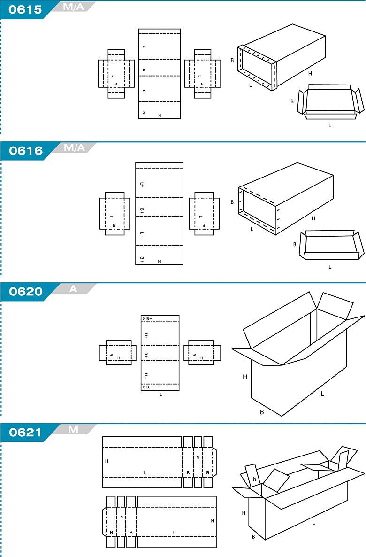 FEFCO 0615 - pudełka trwale łączone