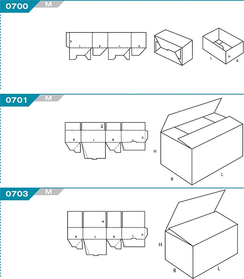FEFCO 0700 - pudełka jednoczęściowe