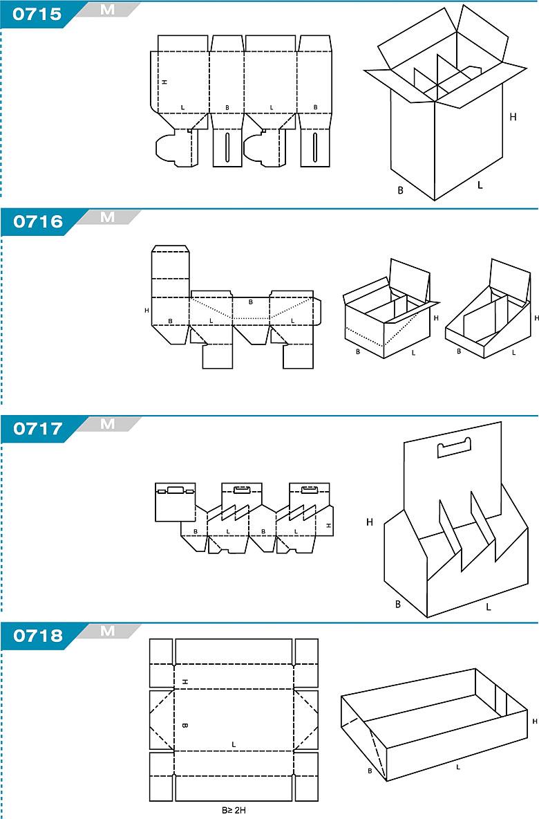 FEFCO 0715 - pudełka jednoczęściowe