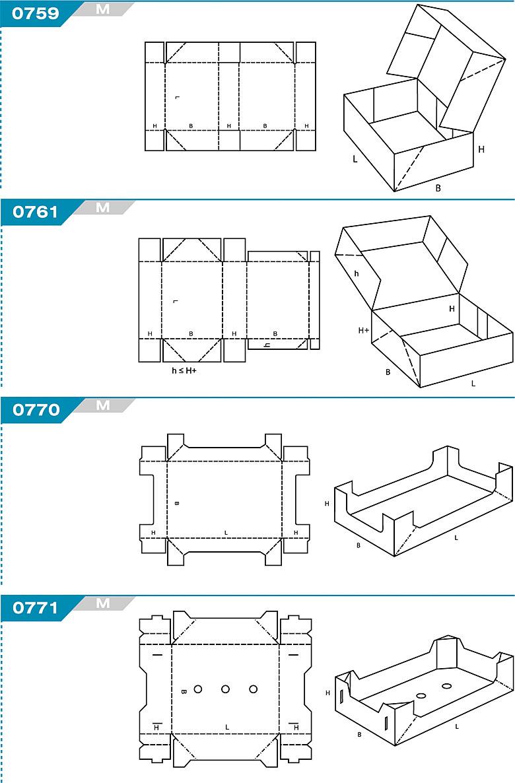 FEFCO 0759 - pudełka jednoczęściowe