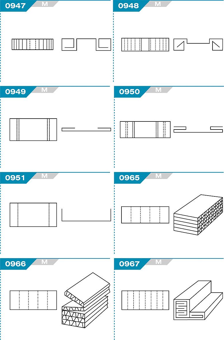 FEFCO 0947 - wkładki kartonowe