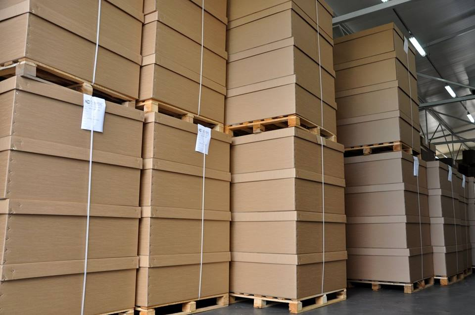 Opakowania wielkogabarytowe z kartonu