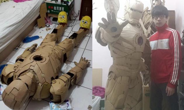 Zbroja Iron Mana z kartonu