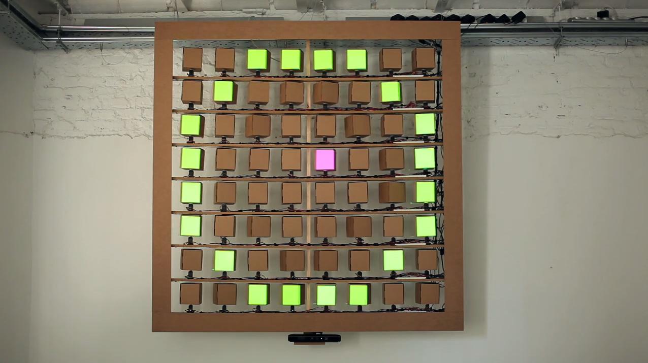 Wyświetlacz z kartonu - Cubepix