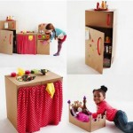 Kuchania z tektury - zabawki dla dzieci