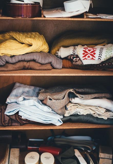 sposób na organizację garderoby