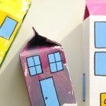 kolorowe kartony po mleku