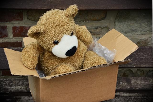 miś w pudełku