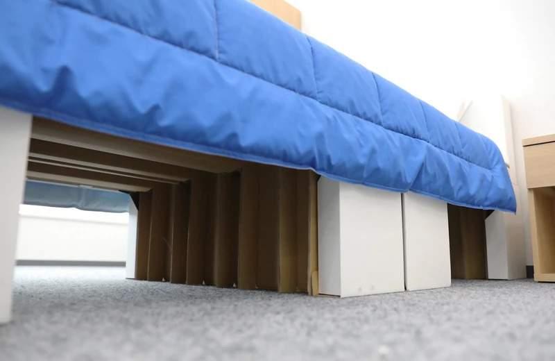 Łóżko z tektury w Tokio 2020